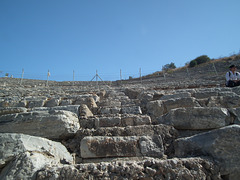Detail of the amphitheatre at Ephesus