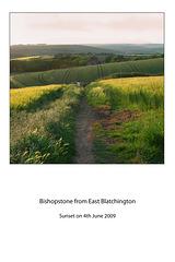 Bishopstone from East Blatchington 4 6 09
