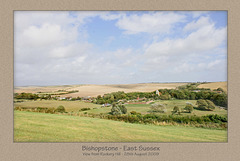 Bishopstone from Rookery Hill 28 8 09