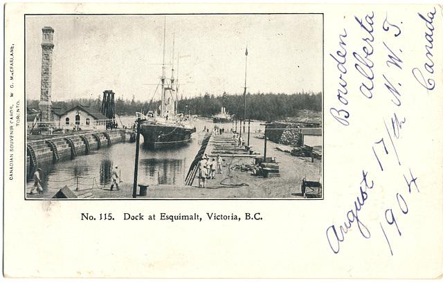 Dock at Esquimalt, Victoria, B.C.