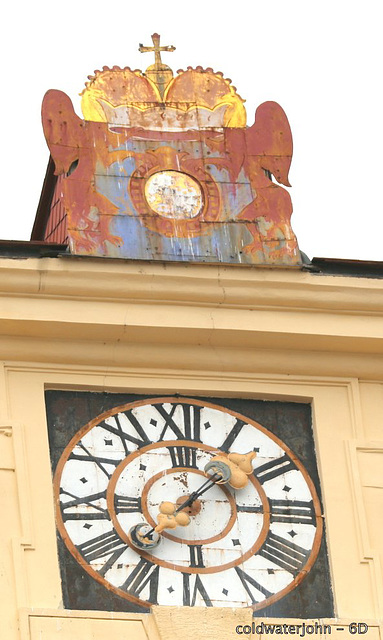 Esterhazy Palace Clock, with 200 mm lens and 2X Extender