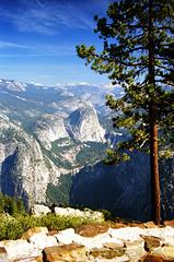 Yosemite NP, Glacier Point Vista II, Aug. 1985 (105°)