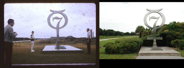 Mercury Monument, Then and Now