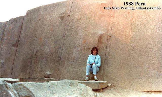 1988 Peru Ollantaytambo Inca Wall