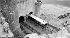 Tracks Under Conwy Castle, Picture 4, Edited Version, Conwy, Wales (UK), 2012