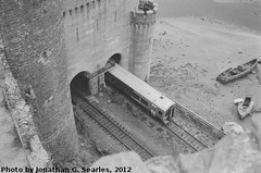 Tracks Under Conwy Castle, Picture 4, Conwy, Wales (UK), 2012