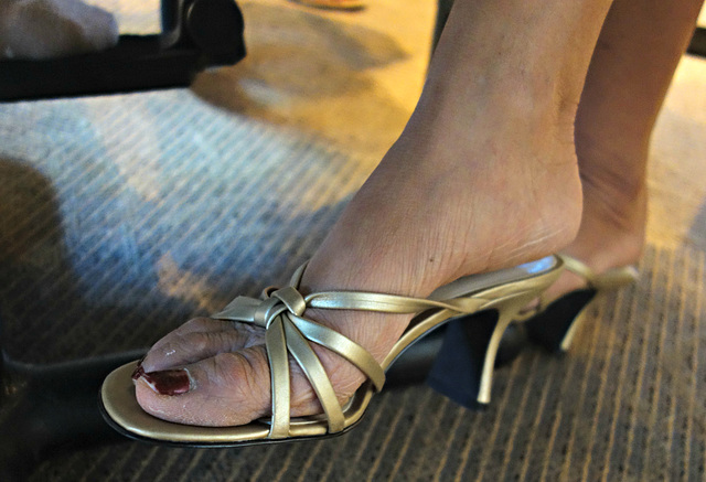wife in BP heels