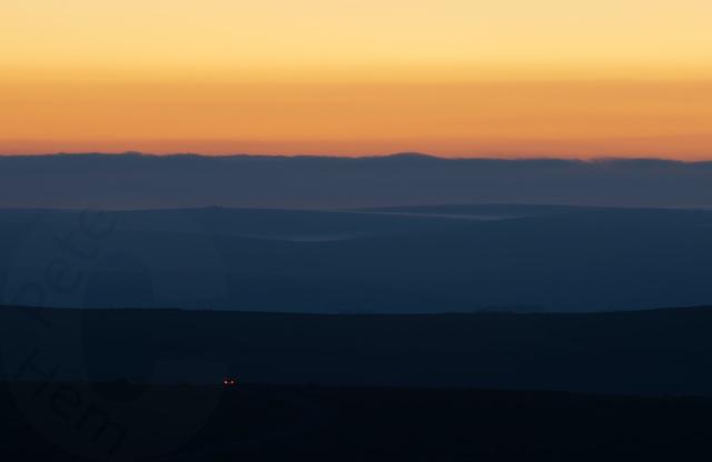 Dartmoor dusk - bluer version