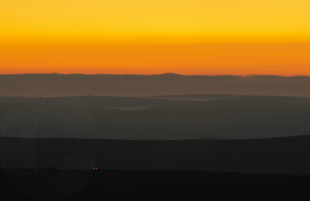 Dartmoor dusk - orange version