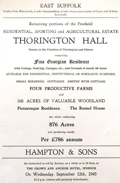 Thorington Hall Estate, Suffolk
