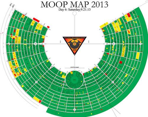 Burning Man MOOP Map 2013 Day 6