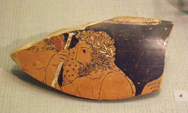 Fragment of a Krater Attributed to the Black Fury Painter in the Princeton University Art Museum, September 2012