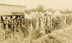 Soldiers in Mess Line