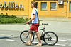 Halle (Saale) 2013 – Walking with a bike
