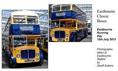 Eastbourne Corporation KHC 369 1963 AEC Regent V / East Lancs - Eastbourne 12.7.2013