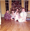 John, Scott, Mary, Nancy and Lisa Tarpley, Xmas, 1958