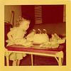 Mary, fighting a stiff headwind on her third birthday, June, 1950