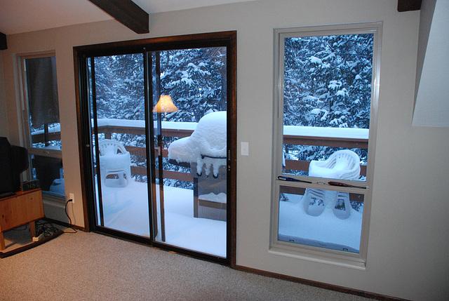 Patio Door and Snow