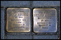 Stolpersteine Harry und Paulina ARRONGE