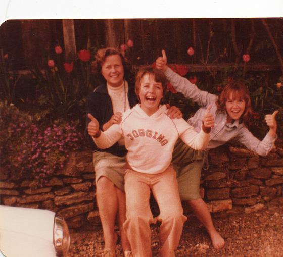 Mum, Tony & Mandi being exuberant