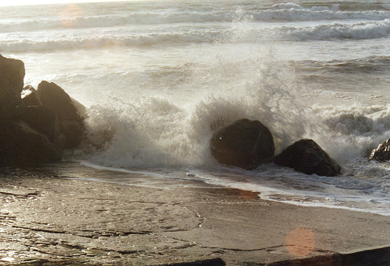 The waves are being exuberant