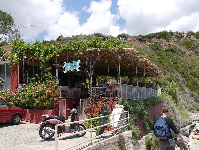 beach restaurant, near Karavados.
