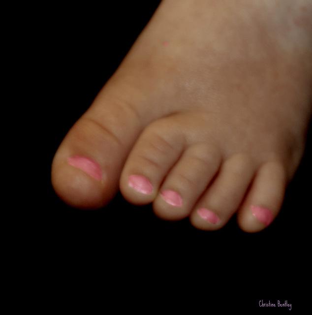 Pink Toenails