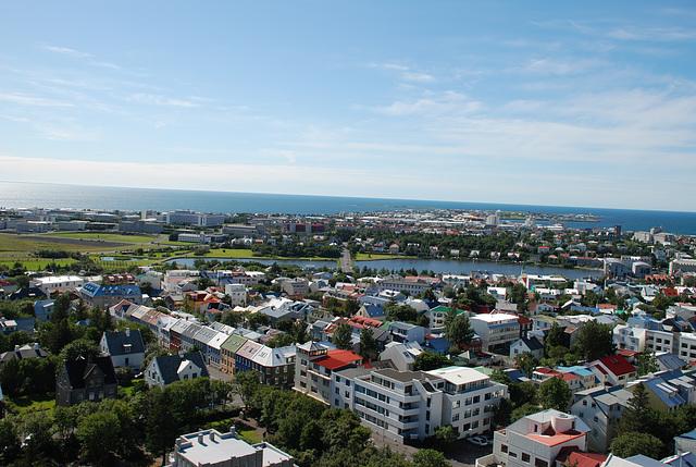Over Reykjavik