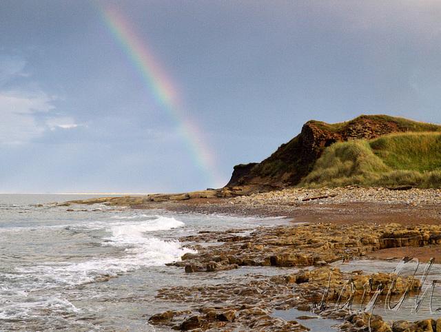 Rainbow over Cocklawburn Beach