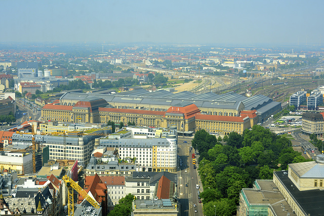 Leipzig 2013 – View of the railway station