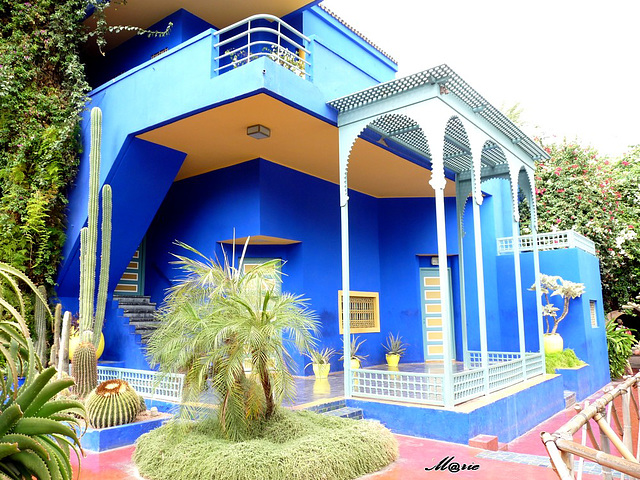 ipernity villa du jardin majorelle a marrakech by m rie. Black Bedroom Furniture Sets. Home Design Ideas