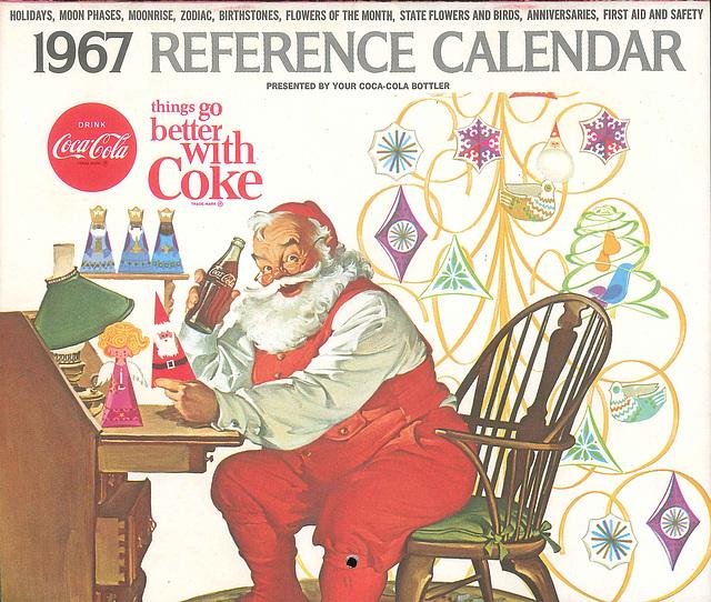 Coke Calendar 1967
