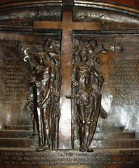 Detail of First World War Memorial, Hathersage Church, Derbyshire