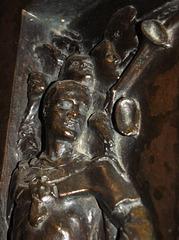 Detail of First World War Memorial, Hathersage, Derbyshire