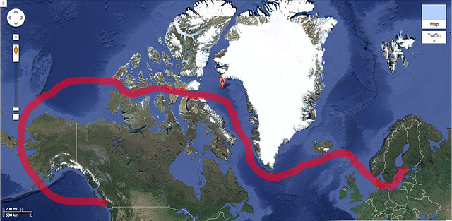 Possible Route For Nordic Orion