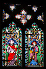 Stained Glass, St Michael and All Angel's Church, Hathersage, Derbyshire