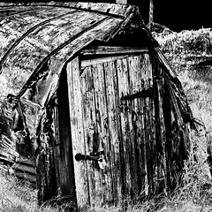The Upsidedown Boat Sheds of Lindisfarne
