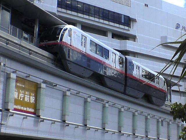 Mono rail at Naha Airport Yui rail