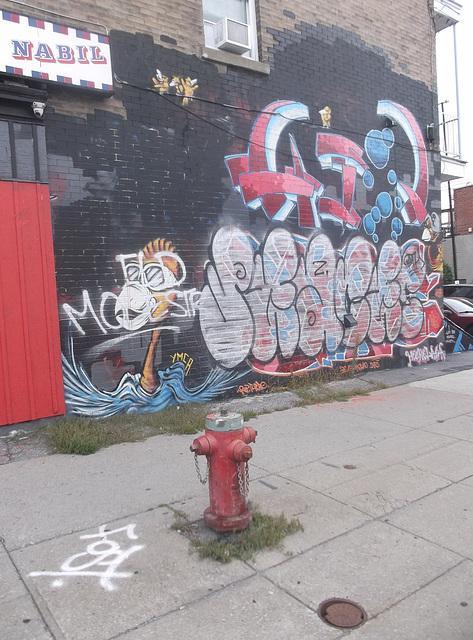 Nabil Tag wallwork / Art mural Nabilien.