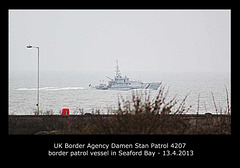 UK Border Agency cutter - Seaford Bay - 13.4.2013
