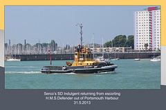 SD Indulgent - Portsmouth Harbour - 31.5.2013