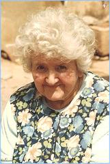 Marthe, ma grand-mère maternelle, juillet 1981