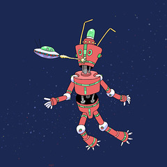RED SPACE ROBOT, 2013