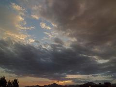 Coucher de soleil après l'orage