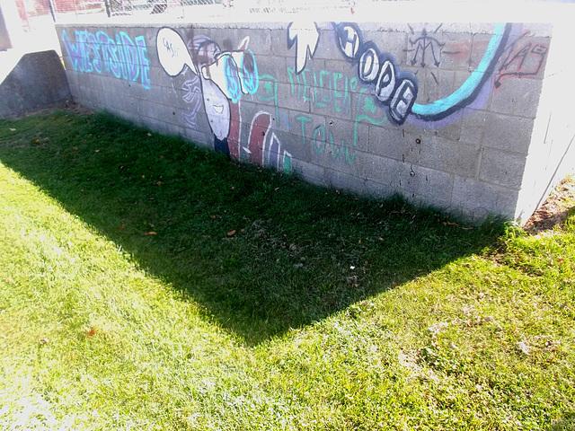 Westside hope tag / Espoir graffitienne sur l'occident.