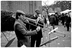 Godalming Fuji X-E1 trombonist