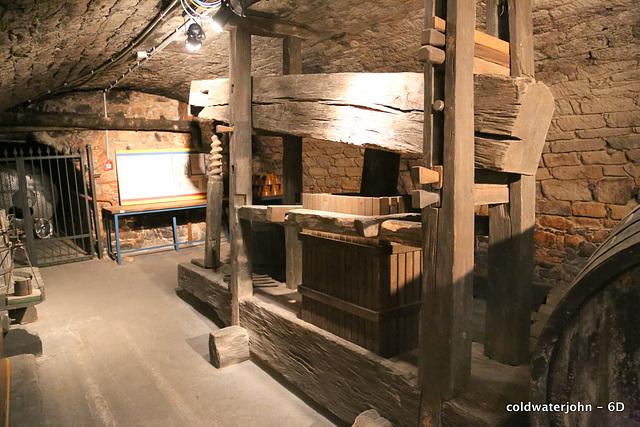 Ancient Wine Press in the Schloss Esterhazy Cellars