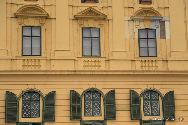 Paint samples visible on top right window surround