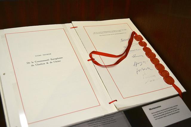 Leipzig 2013 – Haus der Geschichte – Treaty for the European Coal and Steel Community