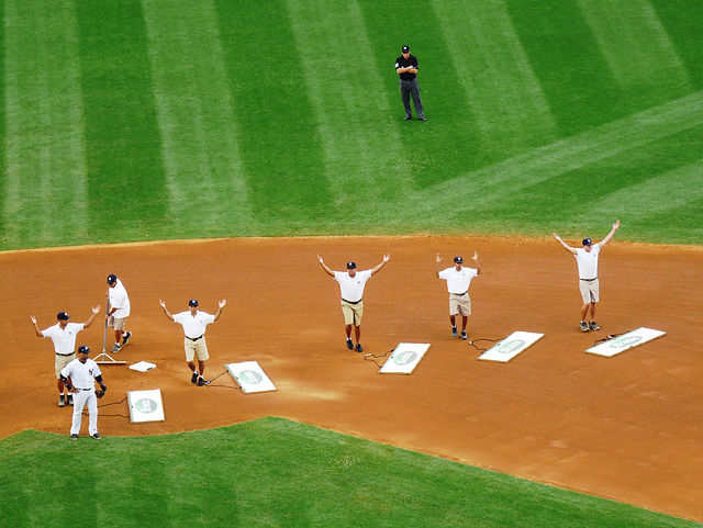 Groundskeepers do YMCA